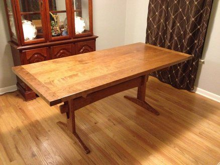 Would Be A Good Walnut Project Fumed Curly Cherry Dining Table With Images Dining Table Diy Dining Room Table