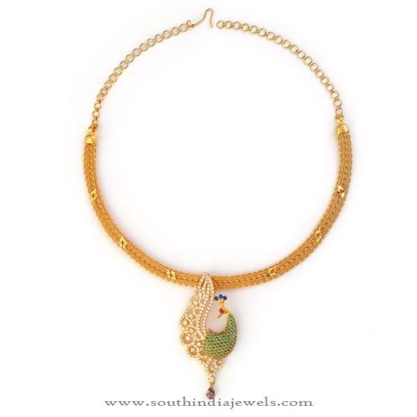 b8141bebc 32 Grams Gold Necklace Designs, Gold Necklace from Bhima Jewellers, Gold Necklace  in 32 Grams.
