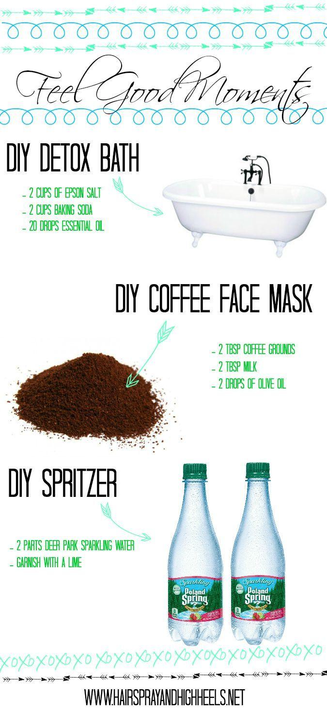 Feel Good Moments: DIY Detox Bath & Coffee Face Mask | Bath detox ...