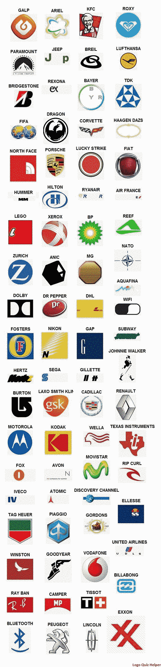logo quiz answers level 4 Logos de marcas, Logotipos