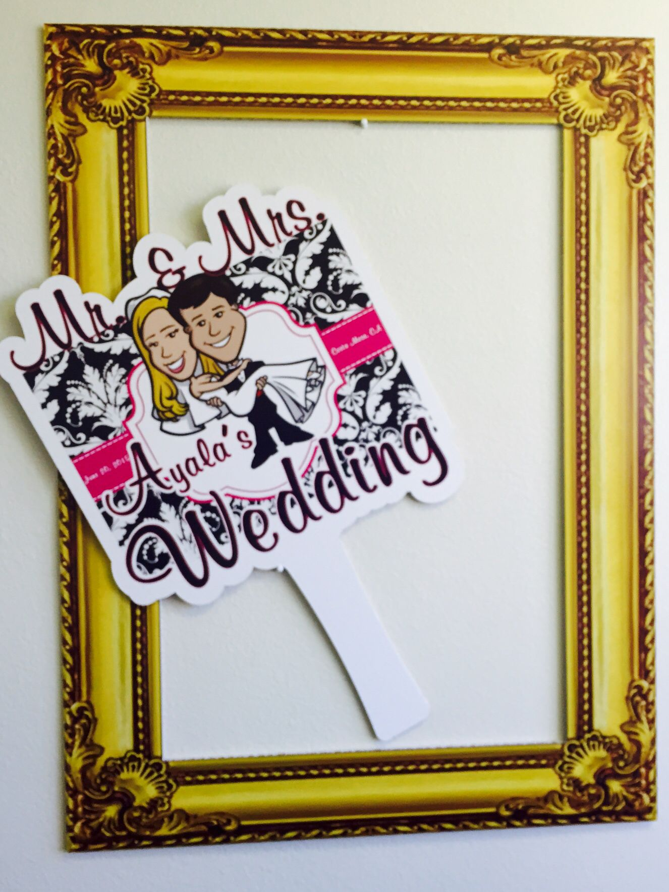 Wedding Photo Frames and photo props. #weddings #weddingprops #weddingfun #weddingreception #weddingparty #partyfavors #photobooth #frames