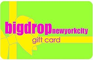 Big Drop NYC Gift Card for $100Gift Card does not expireValid at all 4 Big Drop NYC locationsIf you wish to make it an online gift card please indicate that in the comments section and select store pickup as the delivery option