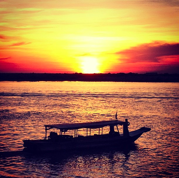 Sunsets on Tonle Sap Lake outside Siem Reap, Cambodia