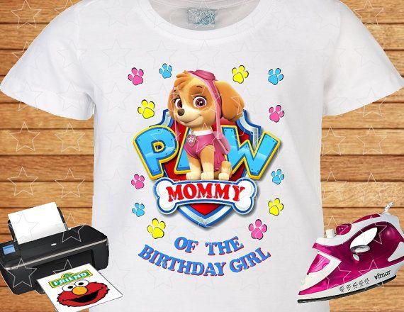Mommy Of The Birthday Girl PAW Patrol Skye Shirt