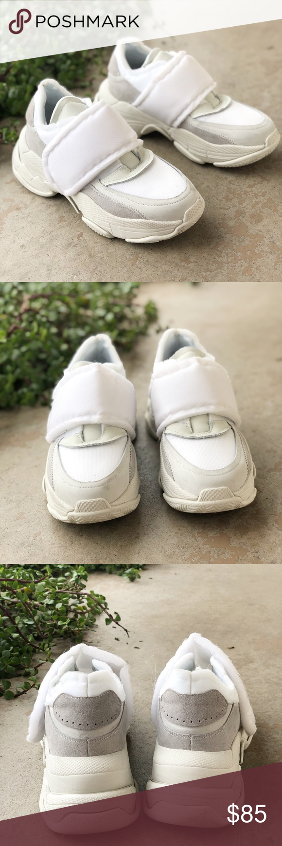 3f7206ce3ea Jeffrey Campbell Ctrl-Shft Cream Dad Sneaker Features  Chunky ugly (yet  amazing)