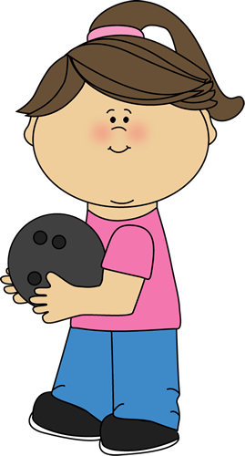 Girl with Bowling Ball Clip Art - Girl with Bowling Ball Image ...