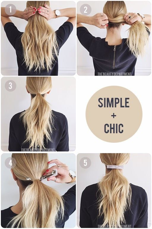 Easy Hairstyles For Work The Clip Trick Quick And Easy Hairstyles For The Lazy Girl Great Ideas For M Easy Work Hairstyles Work Hairstyles Easy Hairstyles