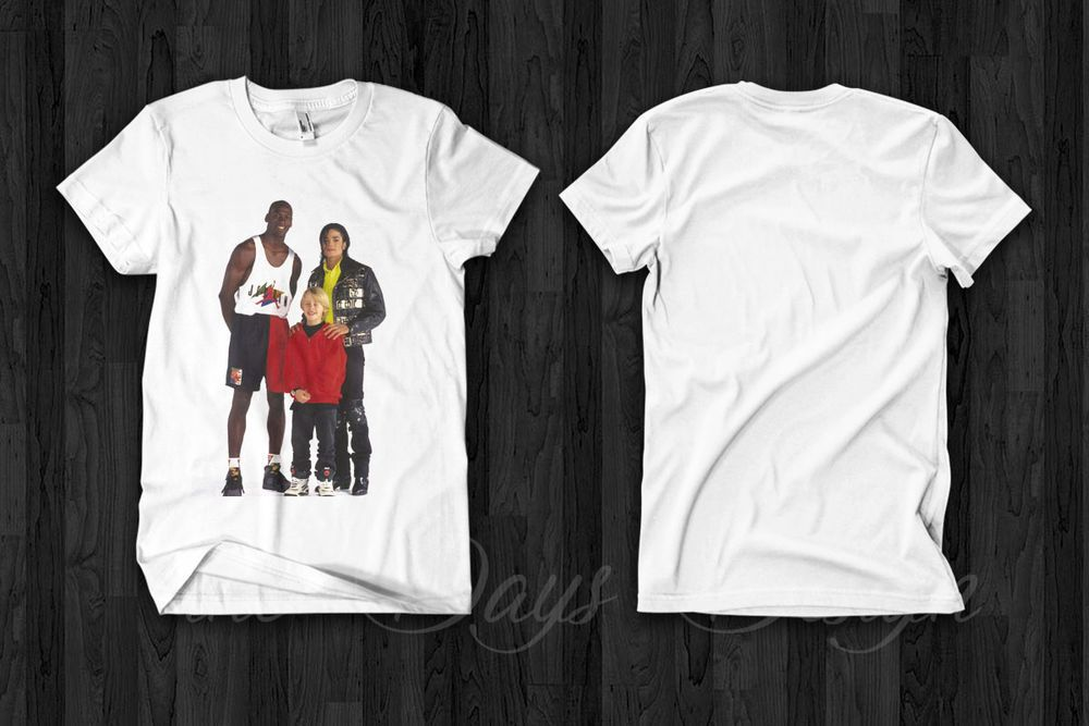 47110d19834c Michael Jordan Michael Jackson Macaulay Culkin T shirt vintage retro Air  Jordan  fashion  clothing  shoes  accessories  mensclothing  shirts (ebay  link)