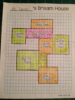 Dream House An Additive Area Project 3rd Grade Common Core Exercices Mathematiques Aire Et Perimetre Mathematiques