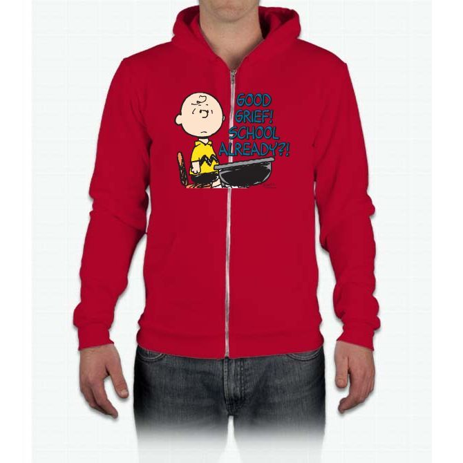Charlie Brown: School Already? Snoopy California Fleece Zip Hoodie
