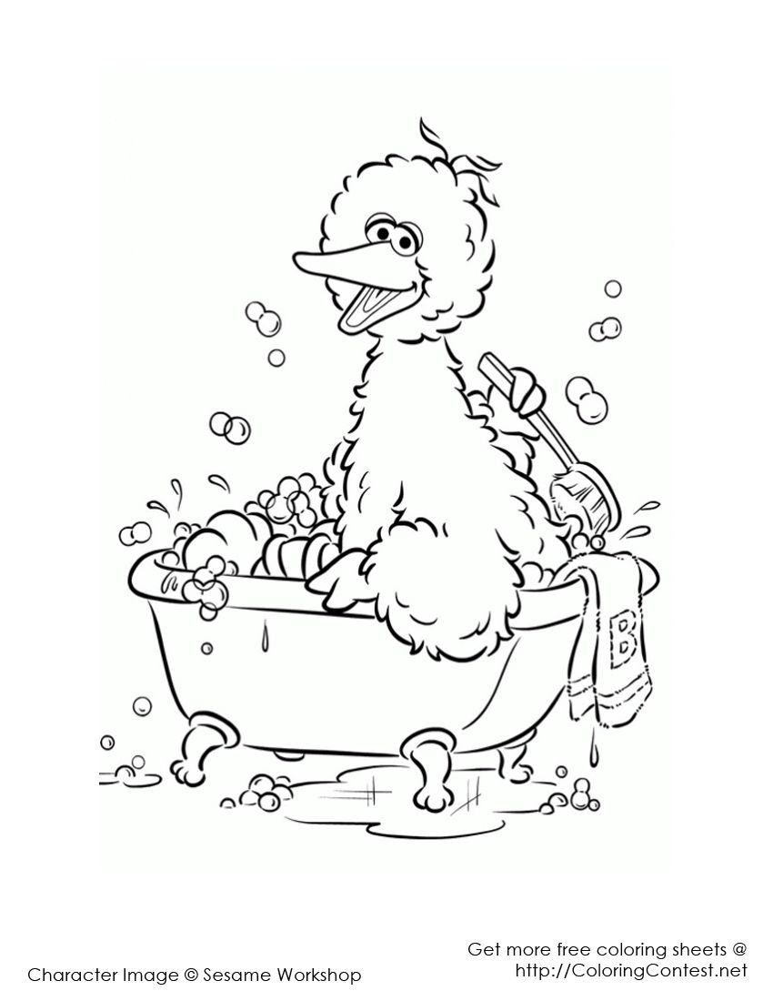 Coloringcontest Net Sesame Street Coloring Pages Bird Coloring Pages Coloring Pages