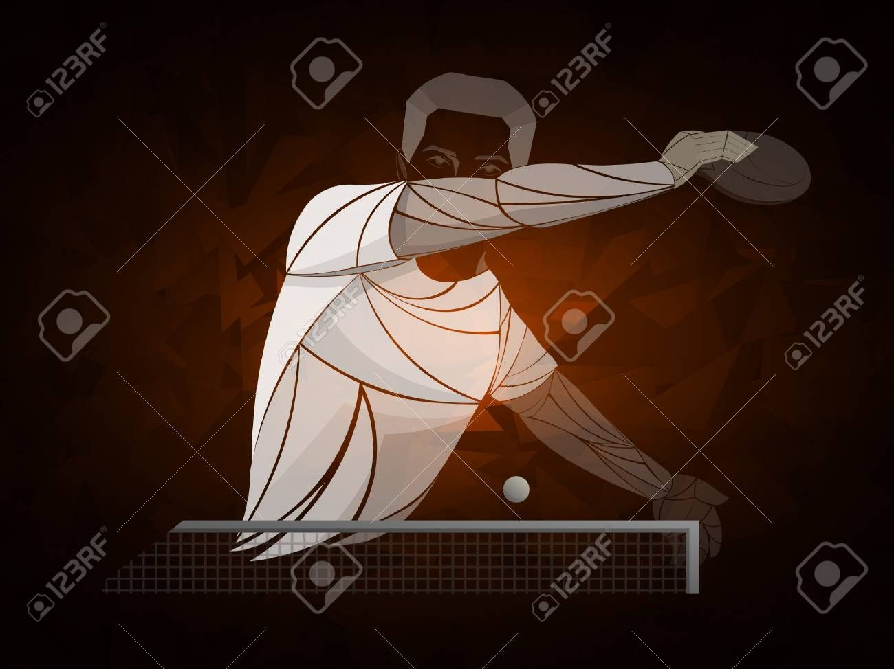 Table Tennis Ping Pong Table Tennis Player Athlete Game Vector Illustration In 2020 Brand Identity Business Cards Professional Business Cards Black Silhouette