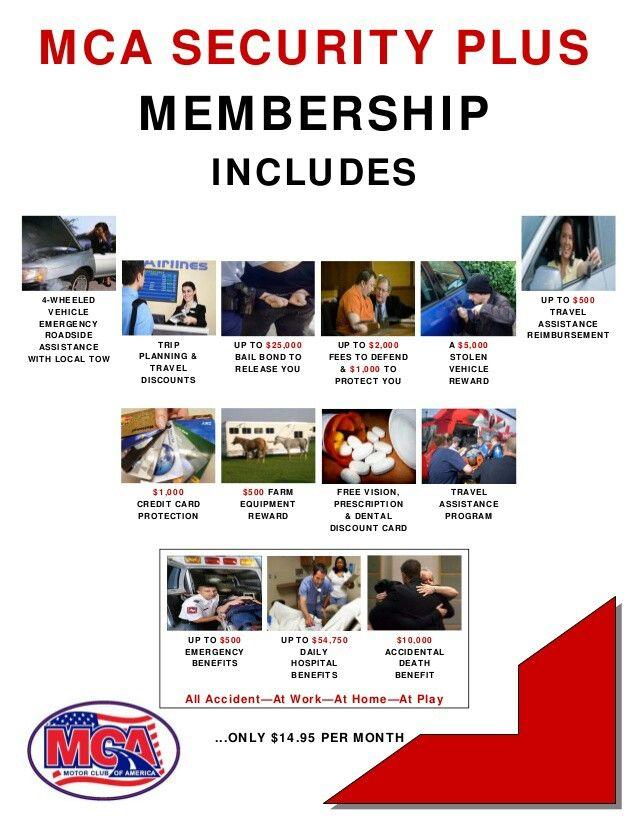 Mca motor club of america benefits list roadside for Motor club of america dental discounts