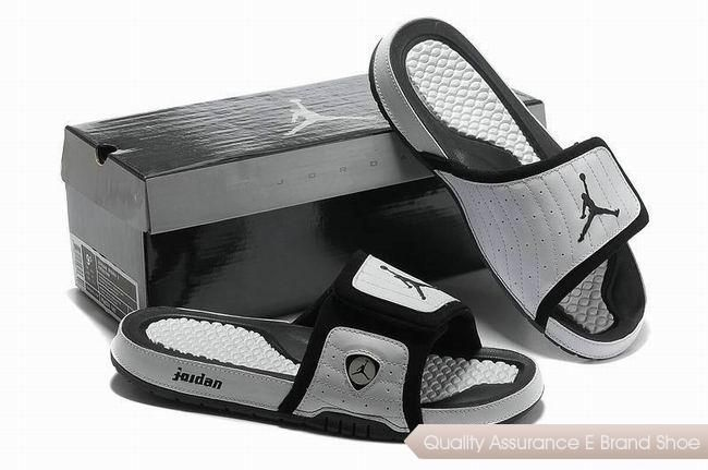 75886a845 nike air jordan 14 retro white black hydro slide sandals sneakers p 2500