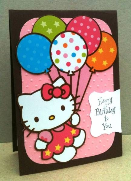 Hello Kitty Birthday By Superjen Cards And Paper Crafts At Splitcoaststampers Cricut Birthday Cards Hello Kitty Birthday Hello Kitty Crafts
