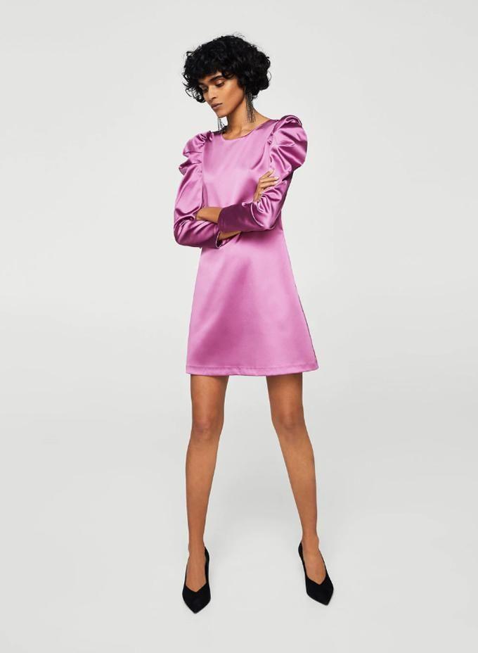Vestido rosa mangas abullonadas. Vestidos de fiesta Vestidos de ...