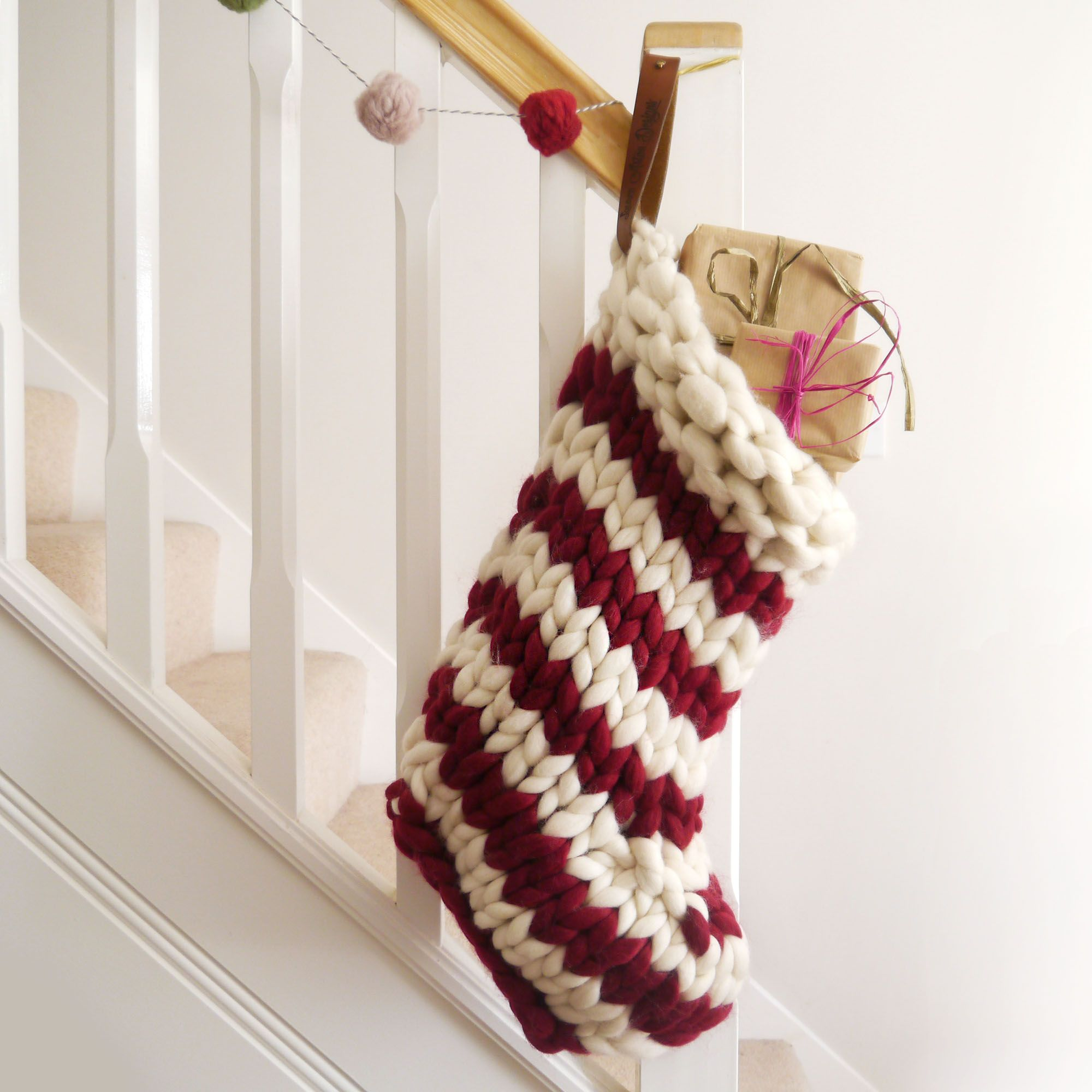 Chunky Hand Knitted Christmas Stocking Knitted Christmas Decorations Knitted Christmas Stockings Christmas Knitting