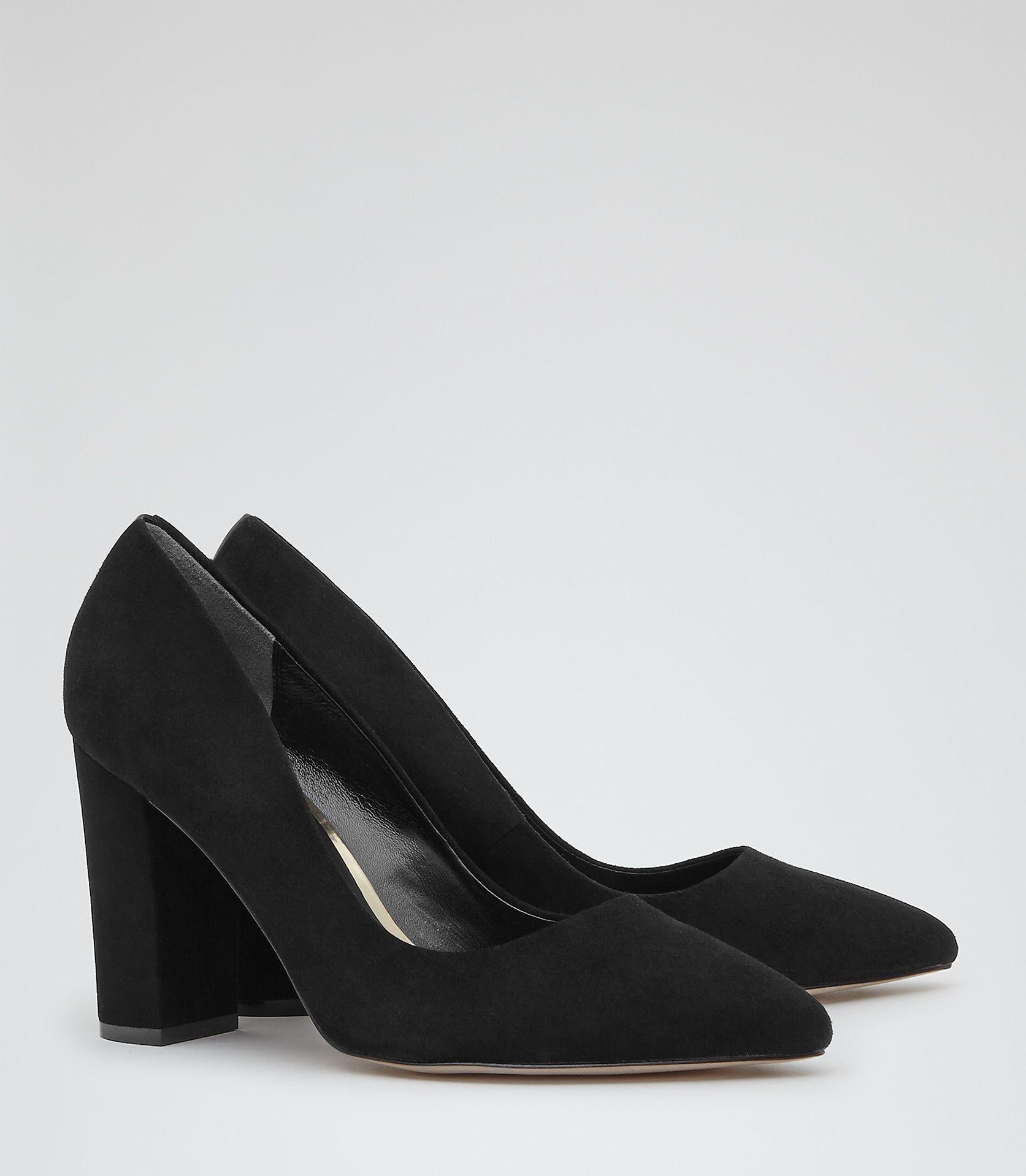 Block Heel Suede Shoes | Shoes, Heels