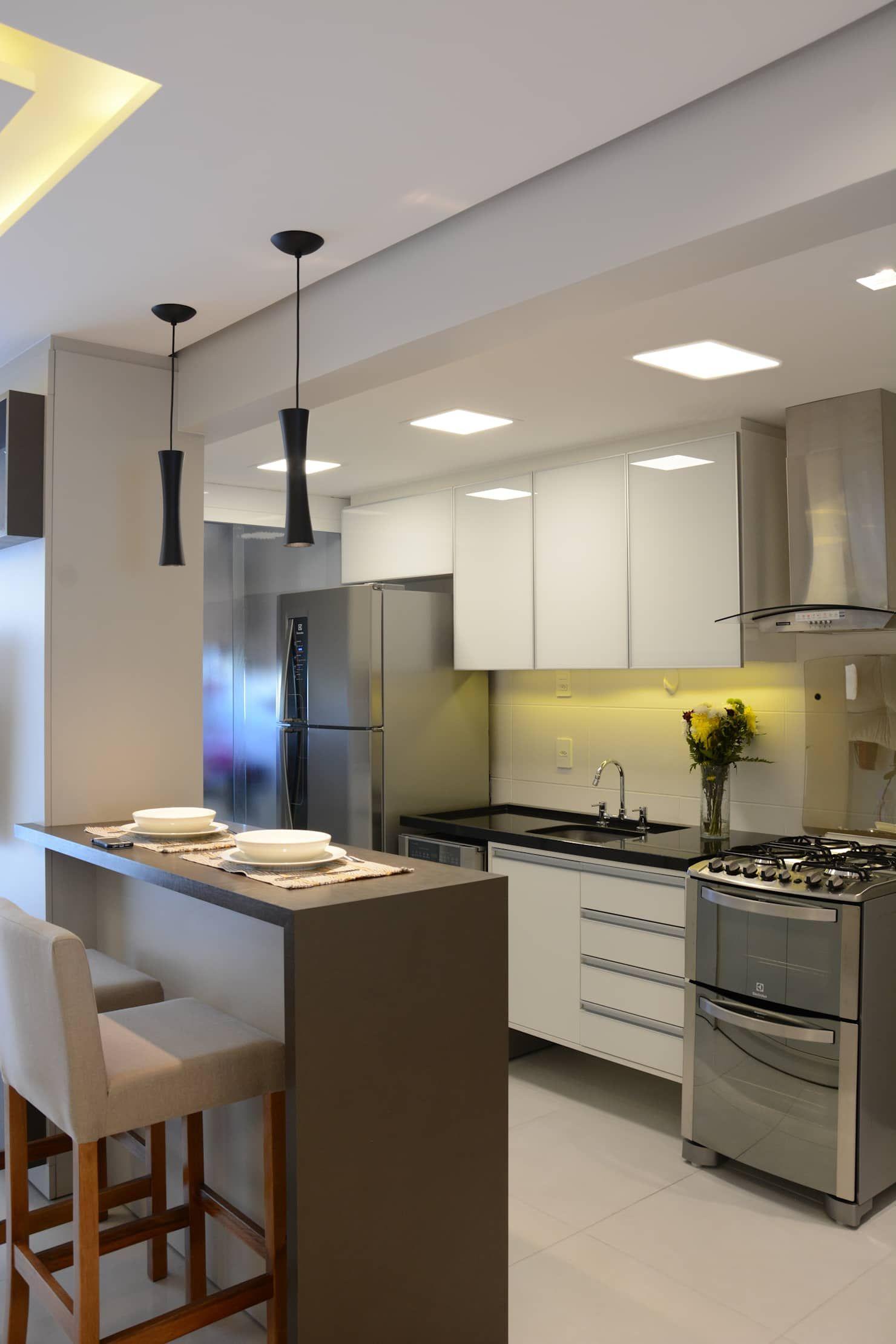Cozinha americana cozinhas por happy arquitetura em 2019 - Bancadas de cocina ...