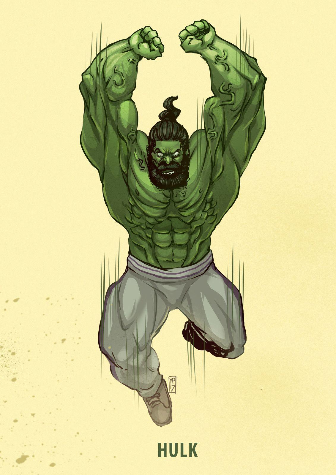 Hulk fan art gym trainer hulk by desar yuartha the