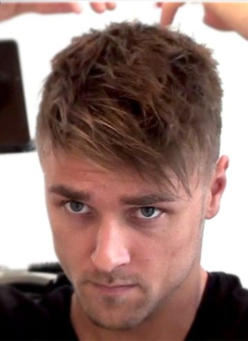Fringe Is Created From Keeping The Hair On The Front Of Your Head Slightly Heavier And Mu Receding Hair Styles Hairstyles For Receding Hairline Mens Hairstyles
