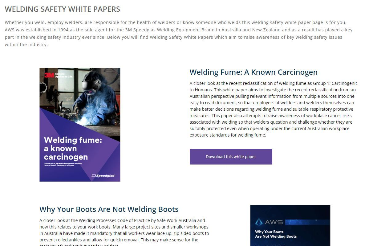 Welding Safety White Papers Safety Issues In Welding
