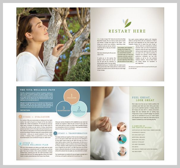 Spa Brochure Design Design - Page layouts Pinterest - spa brochure