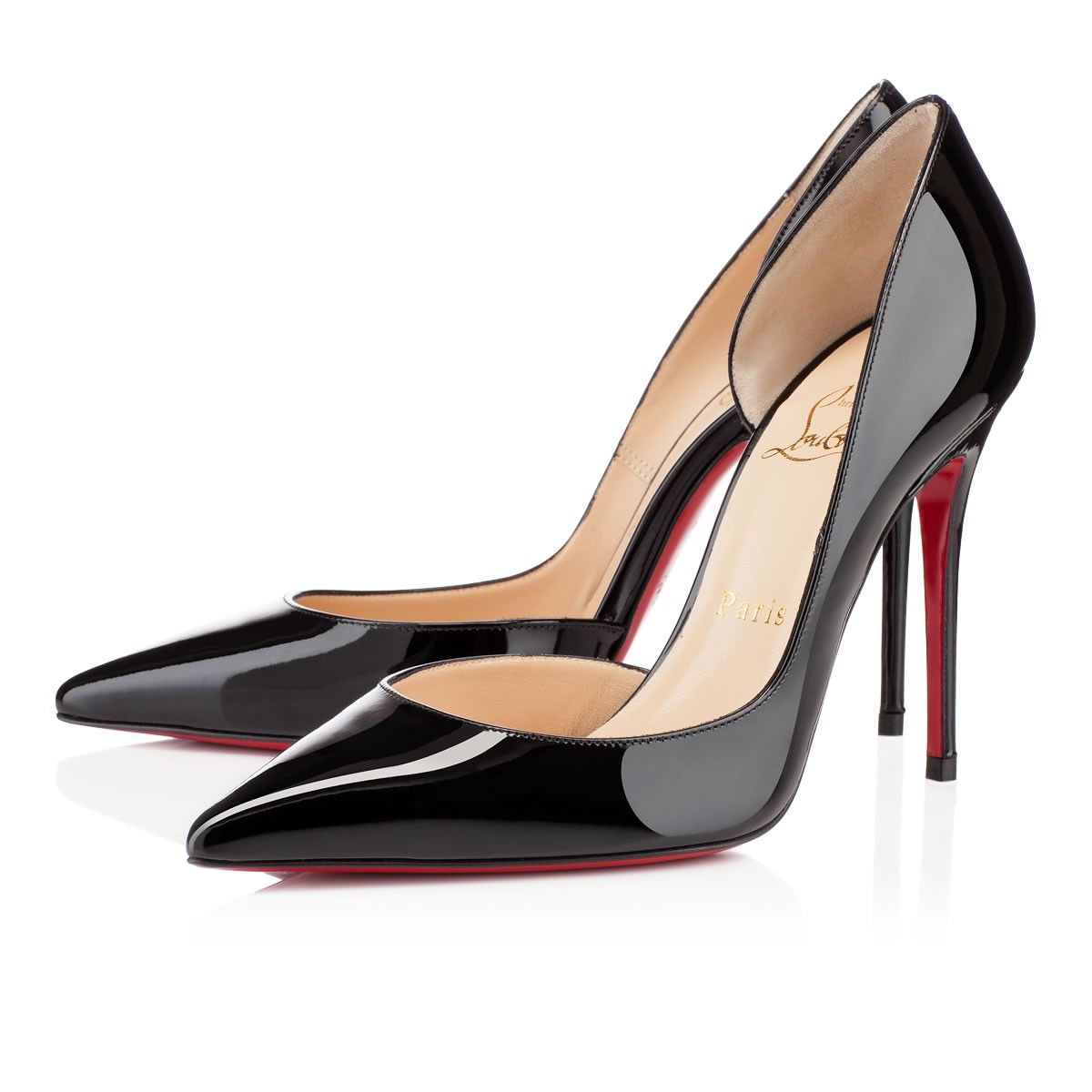 Iriza 100 Black Patent Leather - Women Shoes - Christian Louboutin