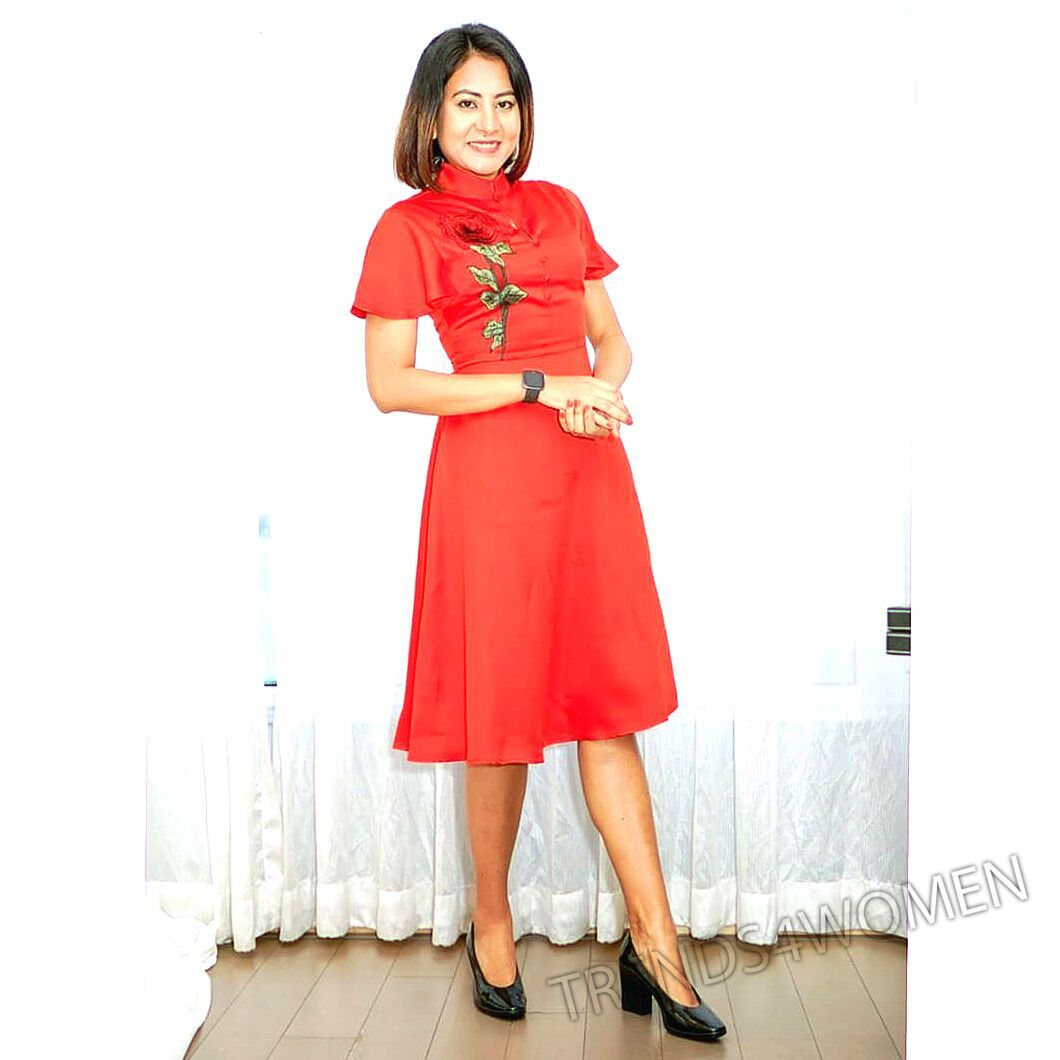 #goodmorning #workdiaries2020 #emcee #anchor #shobharana #stagecoach #me #liveevents #showhost #passion #love #red #littlereddress #rednails #redlips #desire #baby #sleepingbeauty #dollface #naturalmakeup #nudemakeup #mua #paintitred #rose #redrose #love #redheartyarn