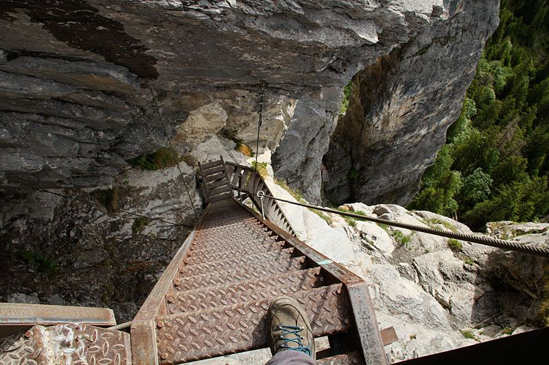 Klettersteig Pinut : Fidaz u historischer klettersteig pinut ch downhillhoppers in