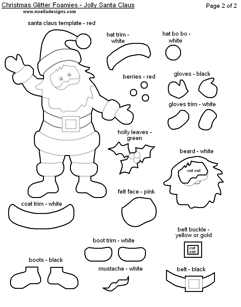 Playful image regarding free printable christmas crafts