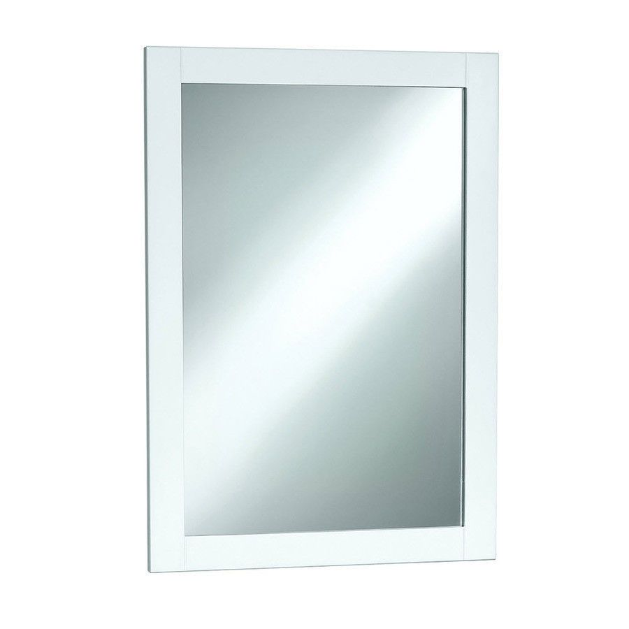 Magickwoods 20 X 30 Euro Stone Shaker Style Wall Mirror With White Frame