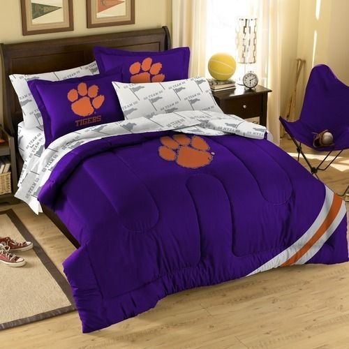 Clemson Tigers Full Comforter Sheets Amp Shams 7pc Bedding