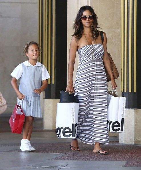 Halle And Daughter Nahla At The Grove In La The Black Family