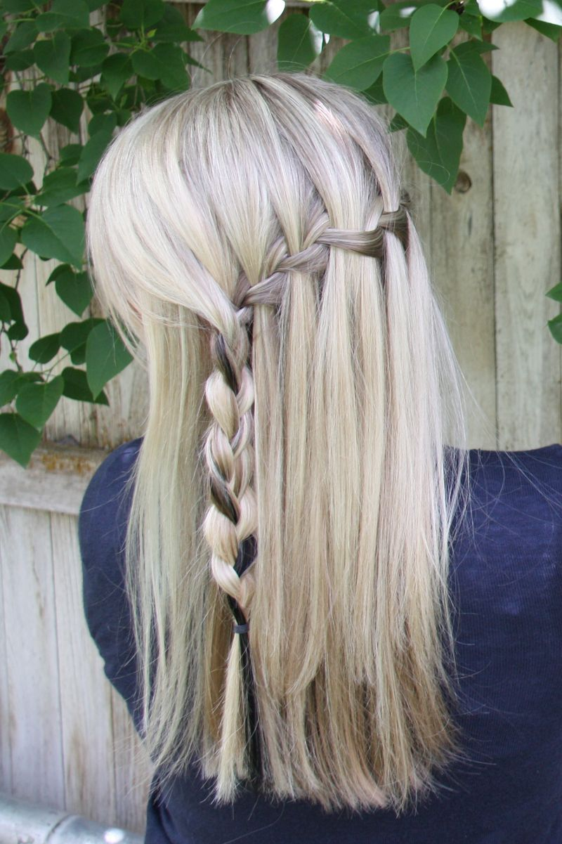 Supercute and supereasy waterfall braid with tutorial love it
