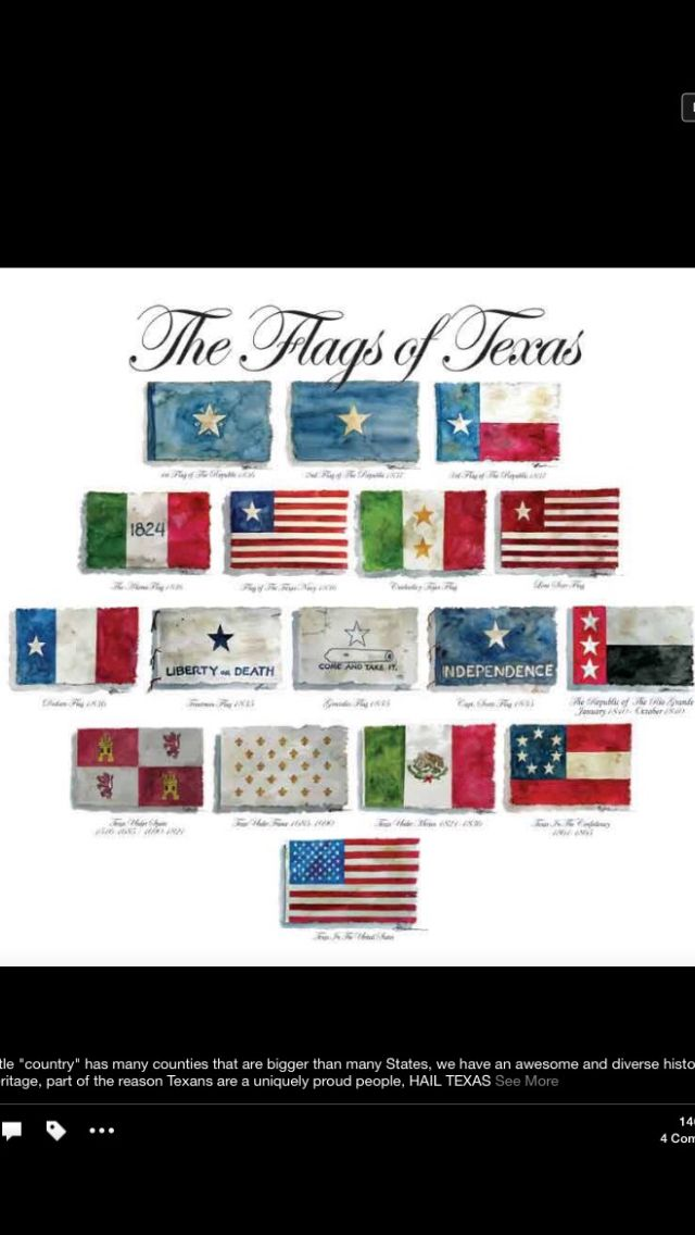 Flags Of Texas Texas Flags Republic Of Texas Texas Poster