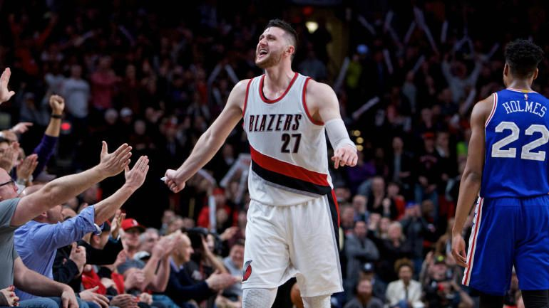 Nurkic Fever Blazers Big Bet Could Propel Them Into The Playoffs Trail Blazers Portland Trailblazers Blazer