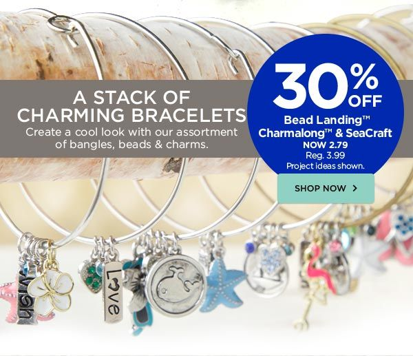 Super easy bangle charm bracelets from bead landing charmalong super easy bangle charm bracelets from bead landing charmalong seacraft michaels mozeypictures Image collections