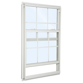 Reliabilt 85 Series Aluminum Double Pane Single Strength Single Hung Window Fits Rough Opening 32 In X 36 In Ac Single Hung Windows Window Fitting New Homes