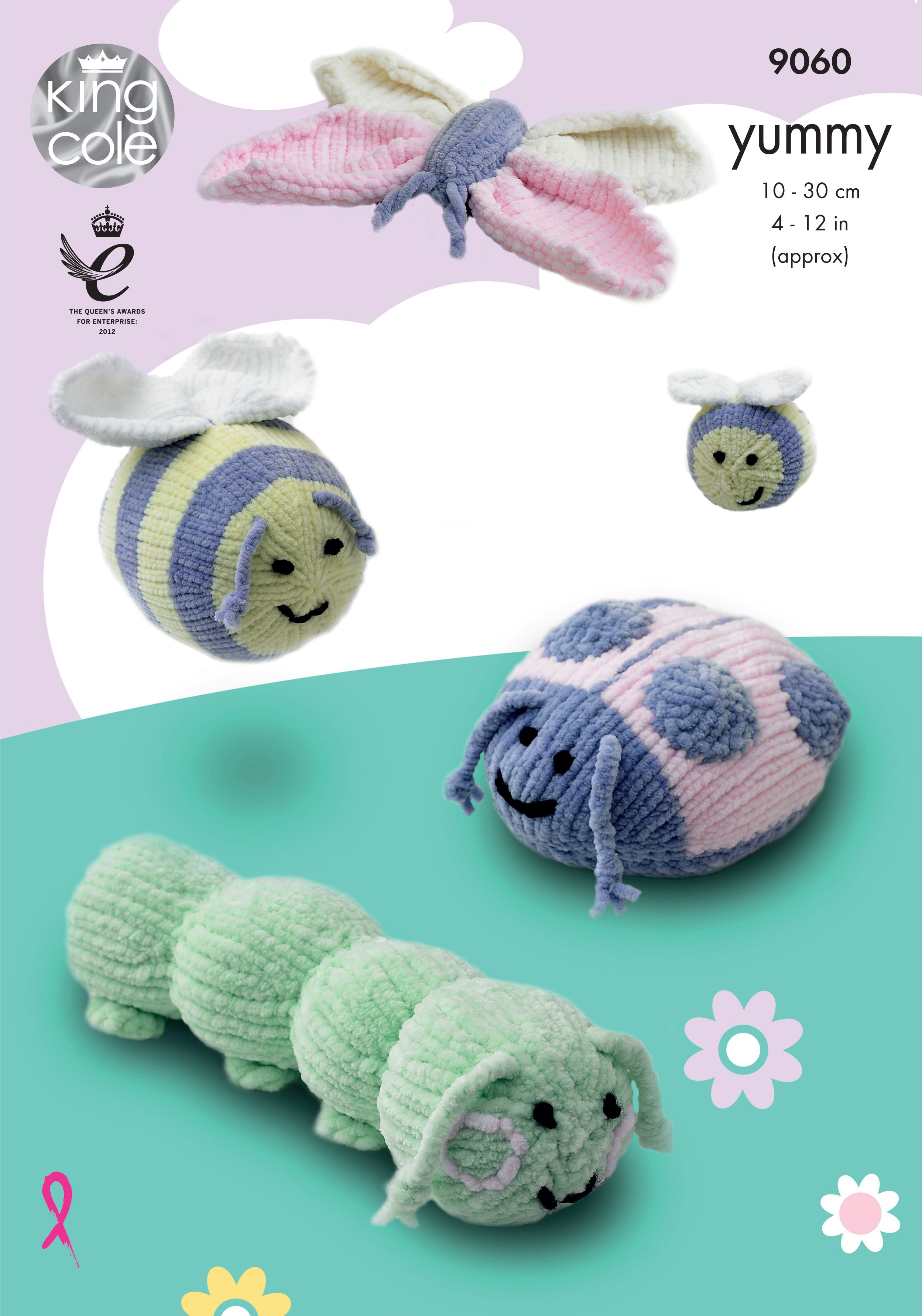 Yummy Bugs knitted with Yummy - King Cole #Caterpillar #Ladybird ...