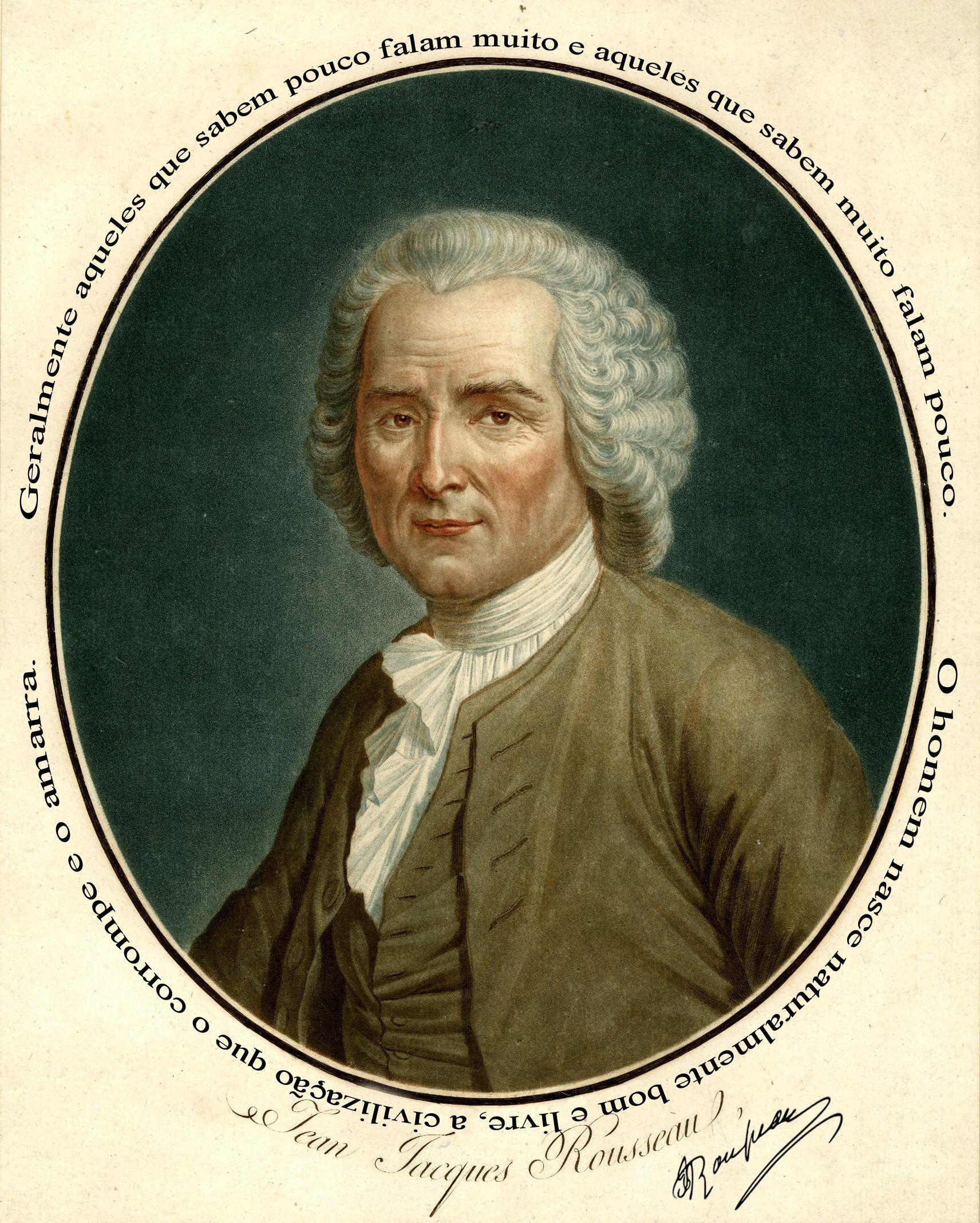 Jean Jacques Rousseau Jeans Arte E Filosofia