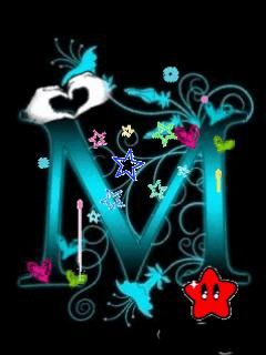 M   Download Letter M wallpapers to your cell phone - cute letter ...   M   Lettering, M ...