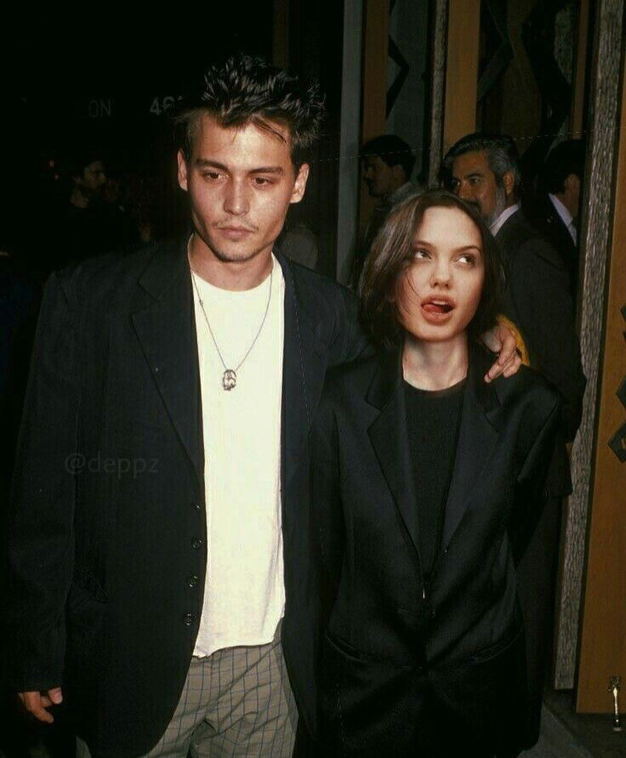 Johnny Depp Angelina Jolie 90s Edit Realtation Johnny Depp Style Johnny Depp Angelina Jolie Young Johnny Depp