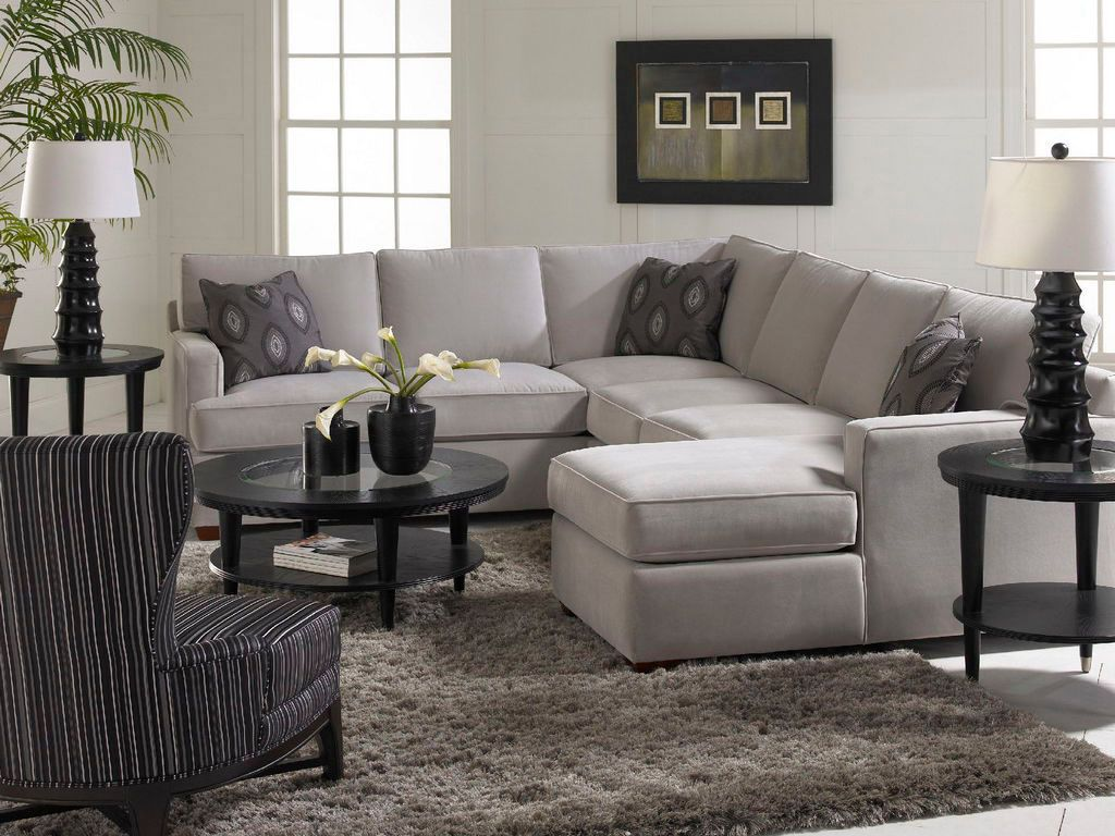 Love the accent pillows and the simplicity of the gray for Family sofa sets