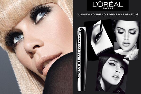 eed16f18d04 Details about L'Oreal Mega Volume Collagen 24H Extra Black Mascara ...