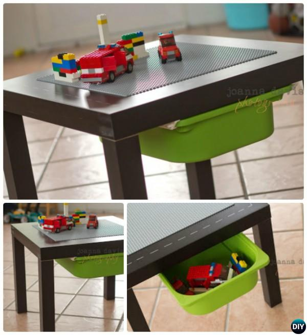 Lego Table From Ikea Side Table Diy Lego Table Project Ideas For
