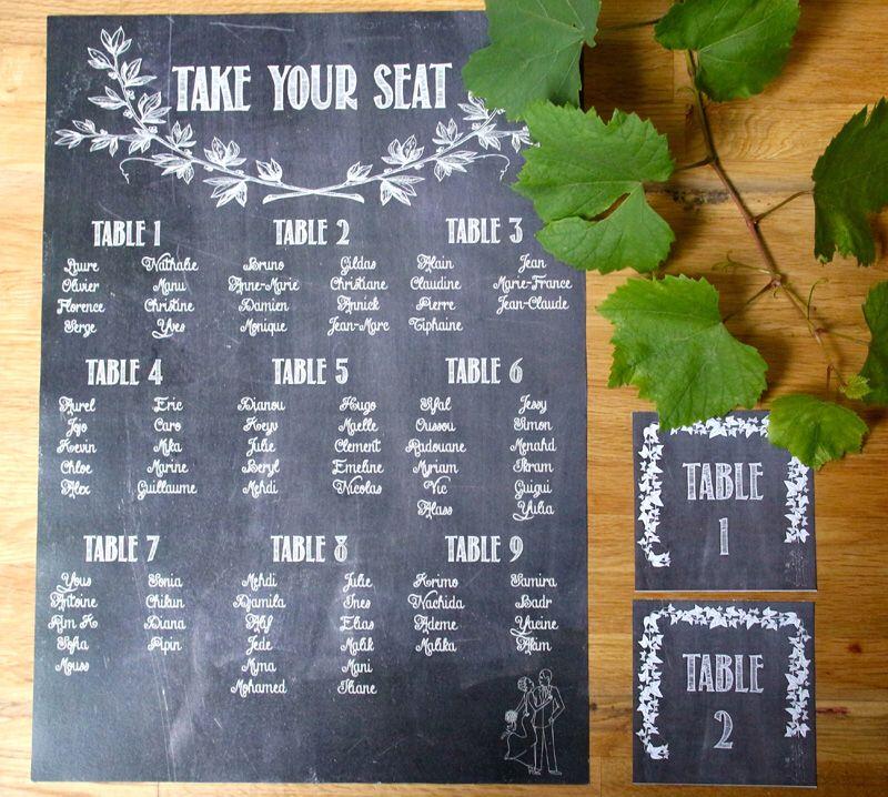 Plan de table et ma que table style \