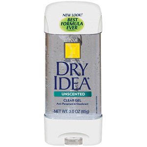 Dry Idea Clear Gel Unscented Anti Perspirant Deodorant 3 Oz Antiperspirant Deodorant Deodorant Antiperspirant