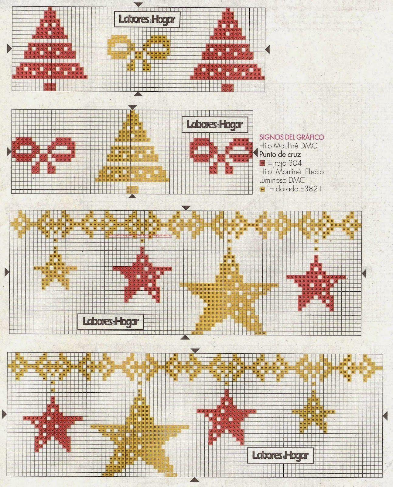 GRAFICOS PUNTO DE CRUZ GRATIS : CENEFAS(82) | navidad | Pinterest ...