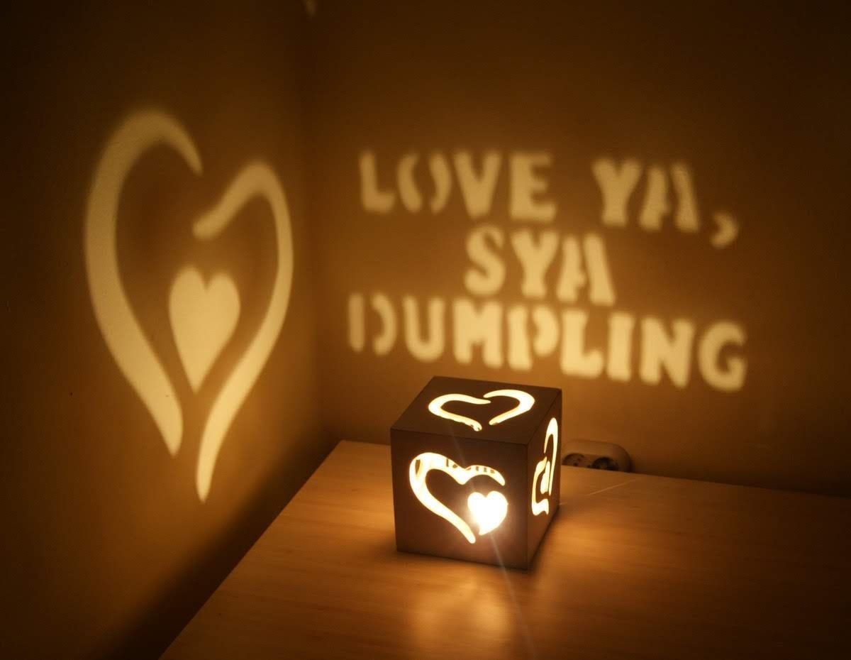 Personalised Tea Light Heart Candle Holder For HUSBAND Birthday Anniversary Gift